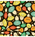 Light bulb seamless pattern vector image