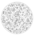 floral hand drawn pattern vector image