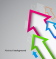 Abstract arrow background eps10 vector image