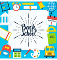 Back to School Paper Template Concept vector image