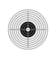 black and white target vector image