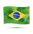 brazil flag in watercolor style icons of brazil vector image