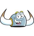Cartoon Viking Helme vector image