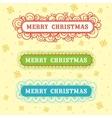 Christmas frame set design vector image