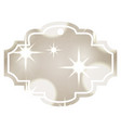 decorative christmas label bright lights image vector image