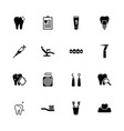 dental - flat icons vector image