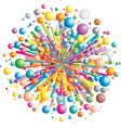 Exploding color vector image