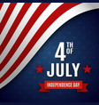 fourth of july greeting card template vector image