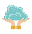 Hands holding a cloud vector image