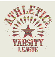 Native Americans athletic vector image