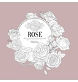 Rose Themed Vintage Sketch vector image