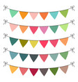 set of multi colored flat buntings garlands vector image