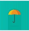 Umbrella in abstract line rain vector image
