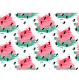 watercolor seamless pattern of watermelon vector image
