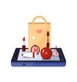 Beauty Shop Online Composition vector image