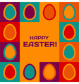 Easter card with eggs border vector image
