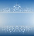 blue banner vector image