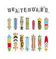 set skateboard collection vector image