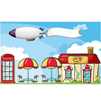 An aircraft with an empty banner vector image vector image