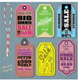 set of templates for Summer Sale vector image