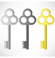 Set of Old Keys vector image vector image