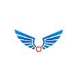 wing abstract bird emblem logo vector image