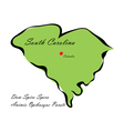 State of South Carolina vector image