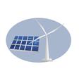 solar panel wind turbine vector image vector image