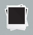 Retro photo frames vector image