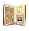 Open book Reading finds home everywhere concept vector image