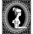 wrought iron frame with lady vector image vector image