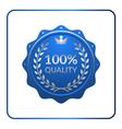Seal award blue icon medal vector image