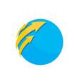business circle arrow logo image vector image