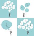 Businessman with cloud of bubble speech vector image