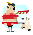busy pizzaman vector image