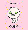 Cutie cat for t-shirt or other usesin vector image