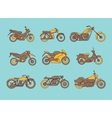 different type of motorcycles icons vector image