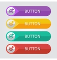 flat buttons with target icon vector image