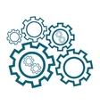 Group of cog wheels vector image