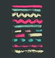 grunge brush stroke spot ink set vector image
