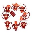 happy new year monkey vector image