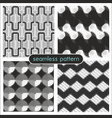 seamless patterns with halftone dots 2 vector image