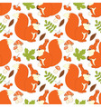 Squirrel Seamless Pattern vector image