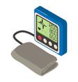 tonometer icon isometric 3d style vector image