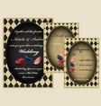 Mad tea party wedding invitation set vector image