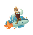 Startup Man Composition vector image