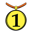 1st place medal icon cartoon vector image