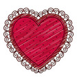 color pencil drawing of heart with decorative vector image