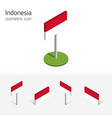 republic of indonesia flag set of 3d isometric vector image
