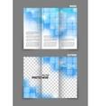 Technology tri fold brochure vector image vector image